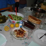 Traditional Cypriot meal